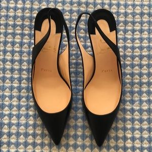 Christian Louboutin slingback heels